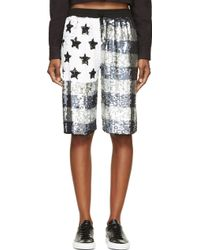 Filles A Papa Grey Sequinned Flag Shorts - Lyst