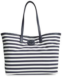 Tory Burch 'Marion' Nylon Tote - Lyst