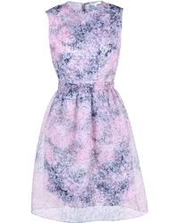 Carven Short Dress purple - Lyst
