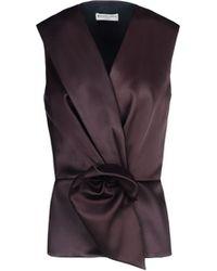 Balenciaga Bow Evening Top - Lyst