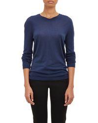 Jil Sander Lightweight V-Neck Sweater blue - Lyst