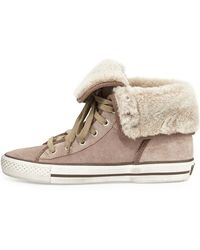 Ash Vanna Fold-over High-top Sneaker Taupe 360b60b - Lyst