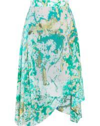 Vivienne Westwood Anglomania - Aztec Asymmetric Printed Crepe De Chine Skirt - Lyst