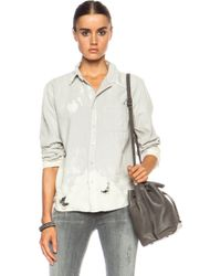 Nsf Clothing Axel Button Up Cotton Top - Lyst