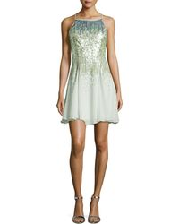 Halston Heritage Sequined Cocktail Dress - Lyst