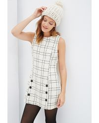 Forever 21 Plaid Tweed Shift Dress - Lyst