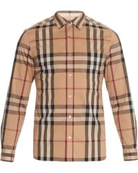 Burberry Brit - Nelson House-check Point-collar Shirt - Lyst