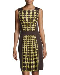 M Missoni Colorblock Dot-Print Dress - Lyst