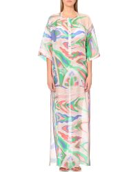 Emilio Pucci Abstract-Print Silk Kaftan - For Women - Lyst