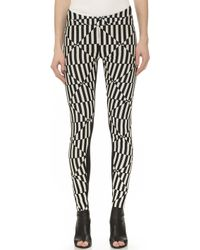 Gareth Pugh Black & White Pants - Black/White - Lyst