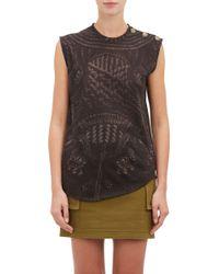 Balmain Button Sleeveless T-shirt - Lyst