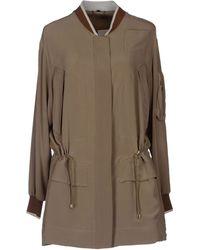 Fay Full-Length Jacket khaki - Lyst