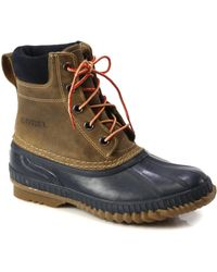 Sorel Cheyanne Leather Lace-up Boots - Blue