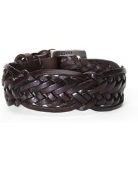 John Varvatos | Braided Leather Cuff | Lyst