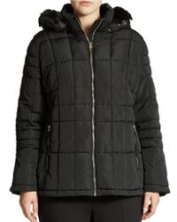 Calvin Klein Hooded Puffer Jacket - Lyst