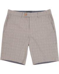 Ted Baker Ronica Check Shorts - Natural