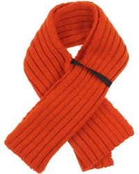 Miu Miu Orange Oblong Scarf - Lyst
