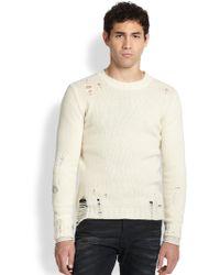 Diesel Destroyed Alpaca Stretch Sweater - Lyst