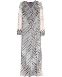 Missoni Floor Length Crochet Knit Dress - Lyst