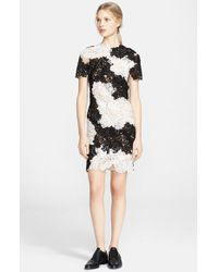 Erdem Embroidered Lace Applique Dress - Lyst