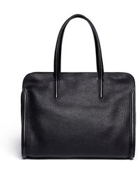 Alexander McQueen 'Padlock' Medium Leather Tote - Lyst