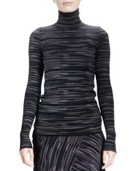Stella McCartney Long-sleeve Space-dyed Turtleneck Top - Lyst