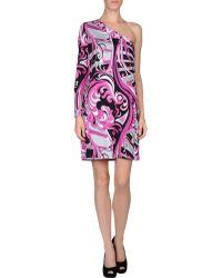 Emilio Pucci Purple Short Dress - Lyst