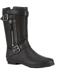Burberry Black Claredon Boots - Lyst