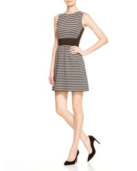 Aqua | Striped Fit-and-flare Dress | Lyst