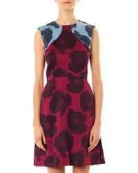 Jonathan Saunders - Reesha Poppy-Print Satin Dress - Lyst