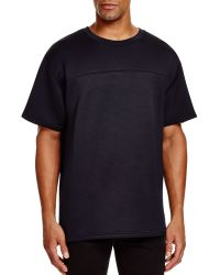 T By Alexander Wang Quilted Jacquard Short Sleeve Tee - Blue