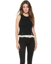Elizabeth And James Kyra Top - Black/Ivory - Lyst