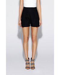 Nicole Miller Linen High Waist Shorts - Black