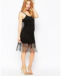 True Decadence | Fringed Strappy Bodycon Dress | Lyst