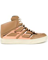 Alejandro Ingelmo 'Tron' Mid-Top Sneakers brown - Lyst