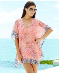 Tommy Bahama Printed Tunic Cover Up - Lyst