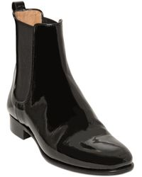 Ferragamo 20mm Nagoya Patent Leather Ankle Boots - Lyst