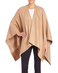Burberry | Charlotte Check-lined Wool Cape | Lyst