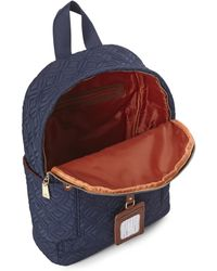 Adrienne Vittadini - Navy Quilted Nylon Backpack - Lyst