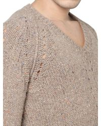 DSquared² Chunky Wool Knit V Neck Sweater - Lyst
