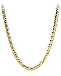 David Yurman Hampton Cable Link Necklace in Gold - Lyst