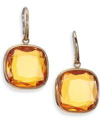 Michael Kors Brilliance Botanicals Cushion Drop Earrings gold - Lyst