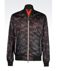Armani Jeans Reversible Blouson In Technical Fabric - Lyst