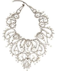 Carole Tanenbaum - Vintage Kenneth Jay Lane Large Rhinestone Bib Necklace - Lyst