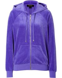 Juicy Couture - Velour Relaxed J Bling Hoodie - Purple - Lyst
