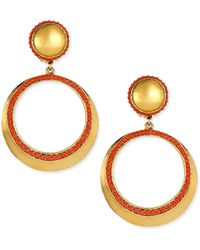 Jose & Maria Barrera Coral Clip-On Hoop Earrings - Lyst