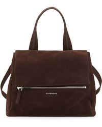 Givenchy Pandora Medium Nubuck Satchel Bag - Lyst