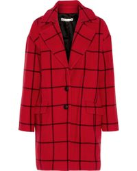 Rebecca Minkoff - Forde Checked Wool-blend Coat - Lyst