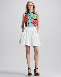 Nanette Lepore Beach Time Poplin Pleated Skirt - Lyst