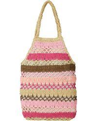 Hat Attack - Pink Crochet Fishnet Bag - Lyst